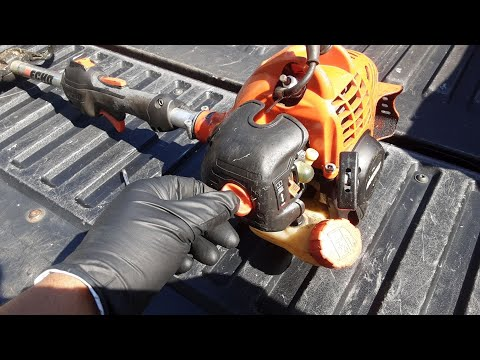 Maintenance on an Echo SRM-225 weed eater