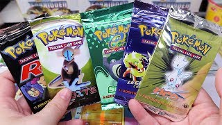 HUGE Vintage Pokemon Booster Pack Opening worth $1500!