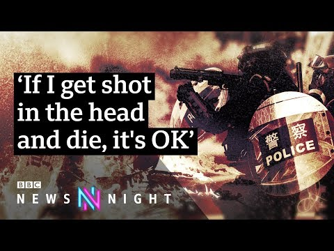 Hong Kong: Violence intensifies as protester shot by police - BBC Newsnight