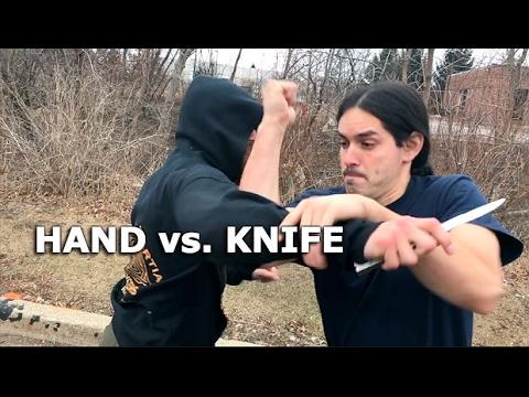 KNIFE DEFENSE Technique - KNOCK OUT!