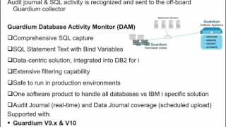 Guardium Tech Talk: DB2 for i security and compliance
