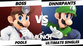 Launch Smash Ultimate - Boss (Dr. Mario) VS DnnrPants (Luigi) SSBU Pools