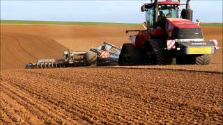Case IH Quadtrac 600 and Lemken Kompaktor 12m