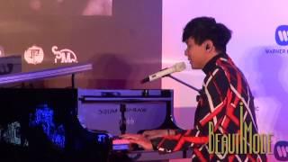 JJ林俊傑自彈自唱新歌「可惜沒如果」 20141224 林俊傑《新地球》發片記者會