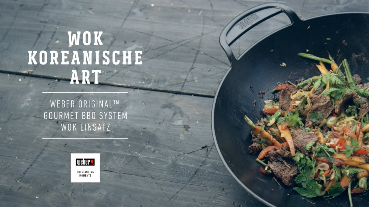 Wok Für Gasgrill : Weber stephen grill u2013 koreanisch kochen mit dem weber original wok