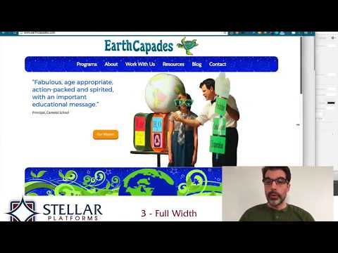 Homepage Review - earthcapades.com -  School Assembly Performer Website