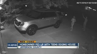 Homeowner fed up with teens egging her house