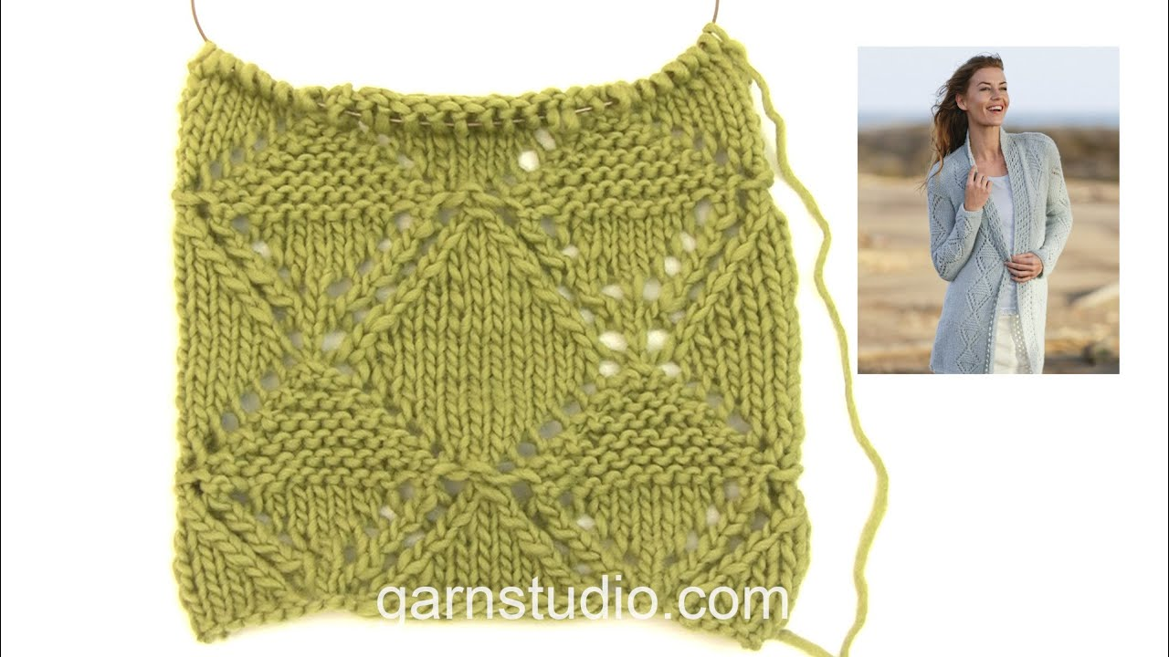 How To Knit A1 In Drops 161 13 Youtube