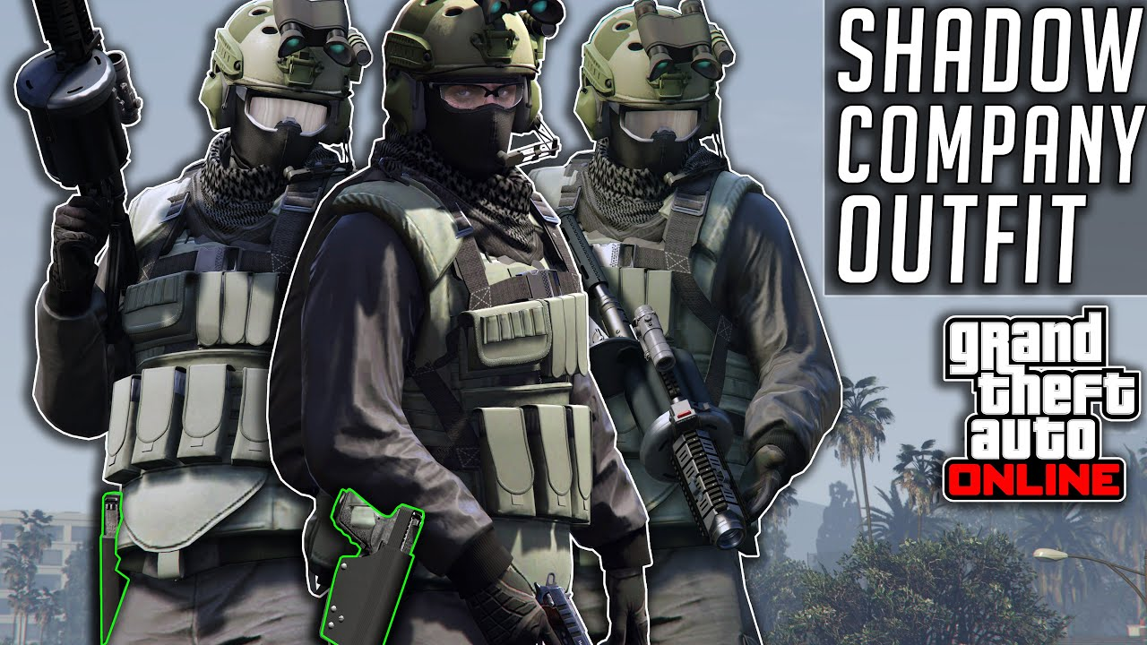 GTA 5 Online COD Shadow Company Military Outfit After Patch 1.51 Summer Special Clothing Glitches