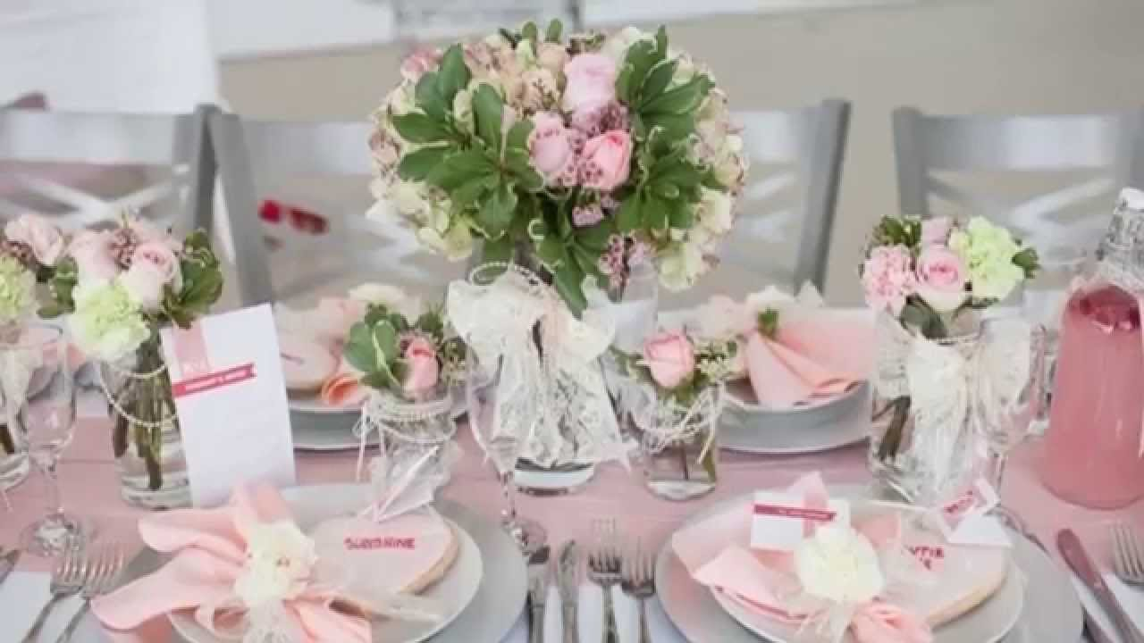Exemple Decoration Table Vert Fushia