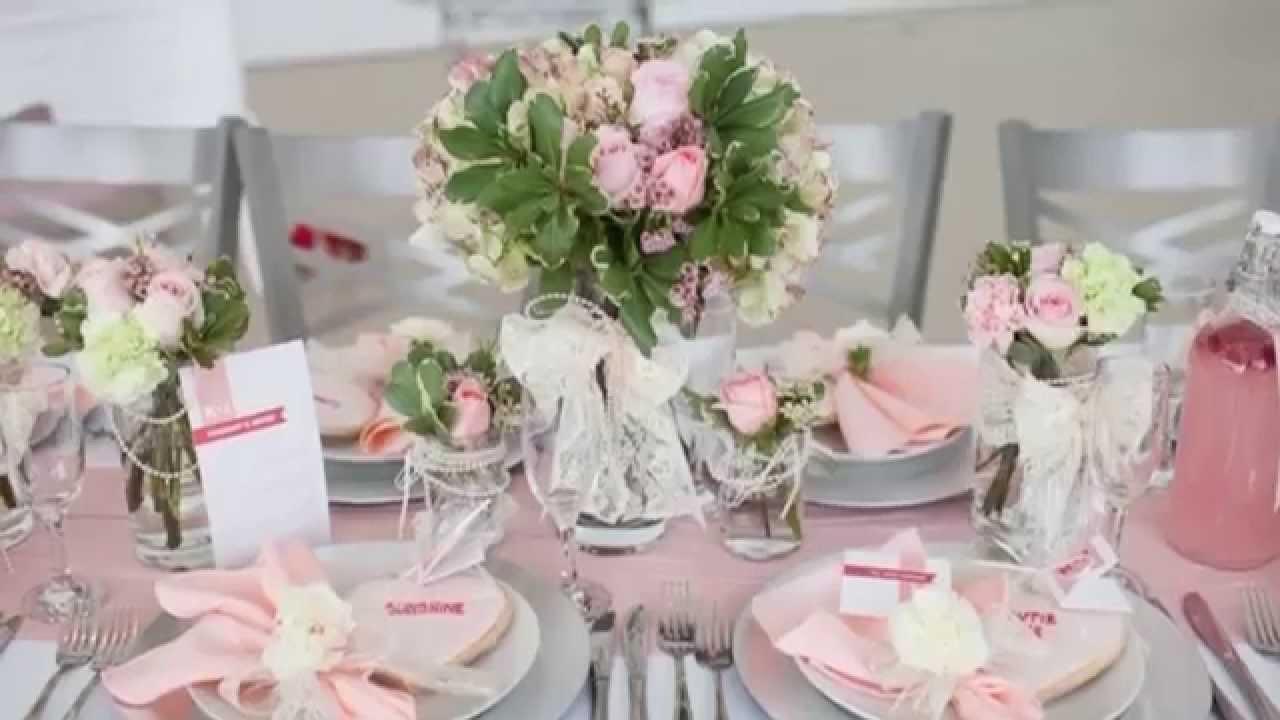 deco table mariage  Ides de dcoration de table pour mariage  YouTube