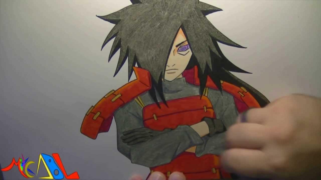 Naruto Modo Sabio De Los 6 Caminos Para Colorear: Dibujando A: Madara Uchiha