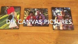 Easy Diy Canvas Photos (Awesome Christmas Gift Idea)
