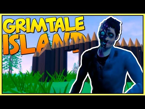 BUILDING A BASE AND SURVIVING ON A MYSTERIOUS ISLAND - Let's Play Grimtale Island Gameplay