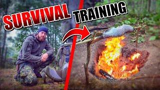 SURVIVAL TRAINING - Fisch angeln ausnehmen und über Feuer zubereiten (Hecht Barsch) | Fritz Meinecke