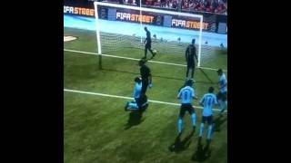 Adebayor gives Valdez a blowy before kissing him on FIFA