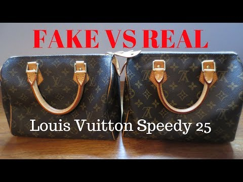 3178e6216d9f Fake vs Real | Louis Vuitton Monogram Speedy 25 | Handbag Comparison and  Authentication - YouTube