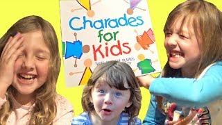 Playing Charades for Kids with Ava Isla and Olivia Hilarious ! Family Fun Game