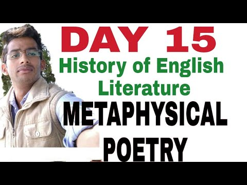 #Day15 History of English Literature |Metaphysical Poetry|uptgt,pgt nta net  lessons