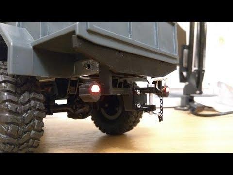 Nowy zderzak do WPL B-1 (M35A2) ze światłami Led 5mm