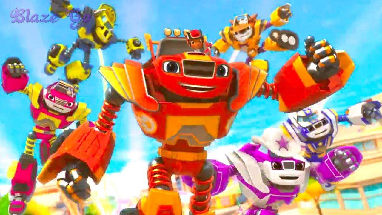Вспыш и чудо машинки Роботы трансформеры мультики про ...