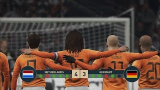 NETHERLANDS ALL-STARS vs GERMANY ALL-STARS I PES 2019 Penalty Shootout