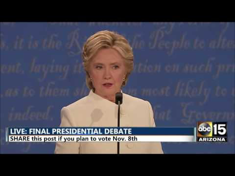 Roe v. Wade and Abortion - Donald Trump Hillary Clinton Final Presidential Debate - Las Vegas, NV