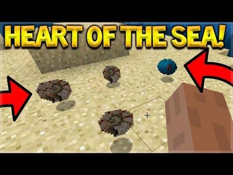 New Minecraft 1 3 Beta Heart Of The Sea Nautilus Shell Youtube