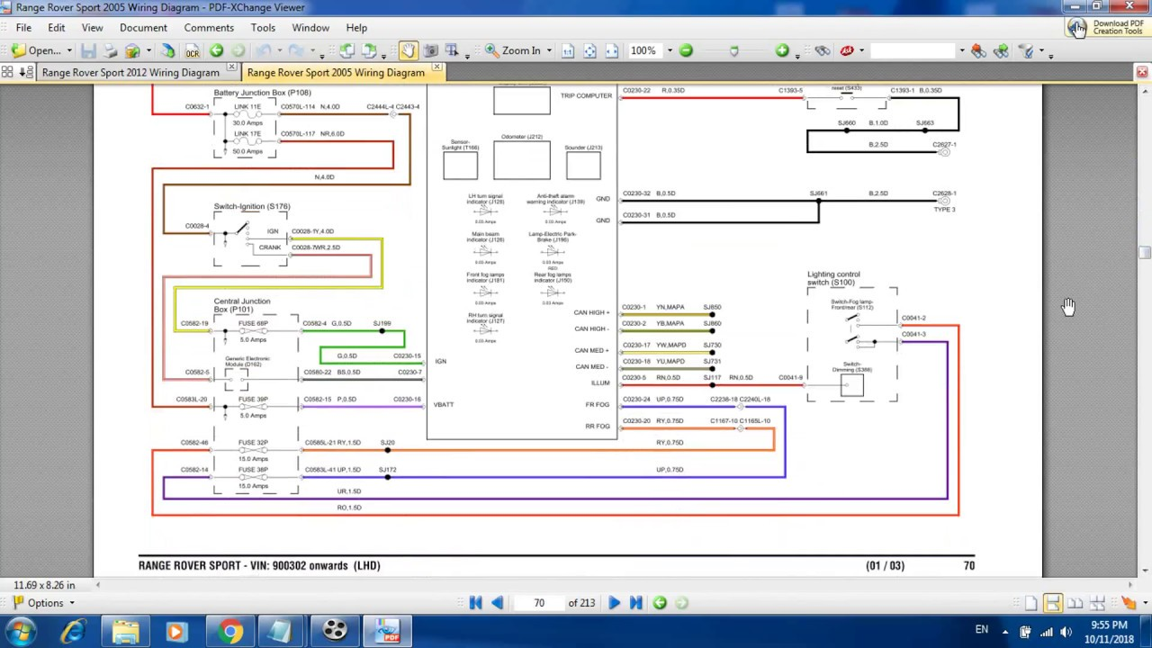 Range Rover Sport 2005 Wiring Diagram - YouTube