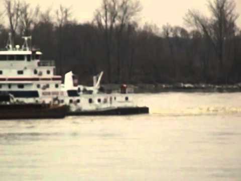 Ohio River - Ingram Barge Company Pushing Coal Barges Up River