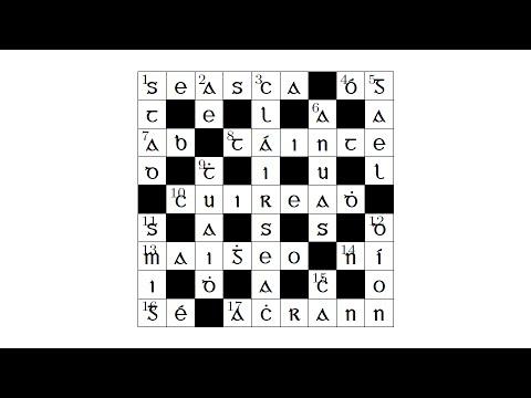 Crosfhocal as Gaeilge - (Crosswords Through Irish)