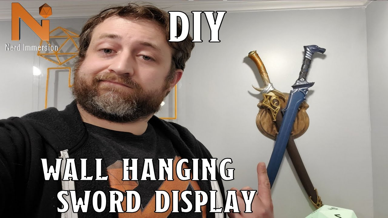 How to Make a Wall Hanging Sword Display | Nerd Immersion
