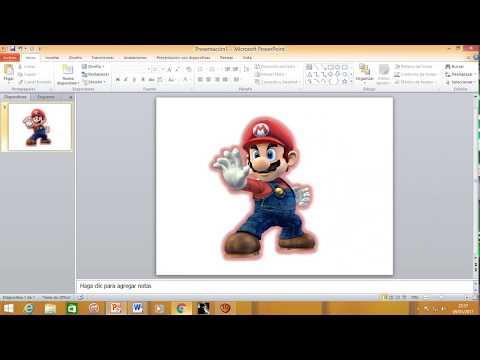 Recortar una imagen en Power Point 2010. eliminar el fondo de una imagen