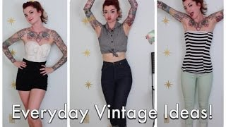 Everyday Vintage and Pinup Outfit Ideas by CHERRY DOLLFACE