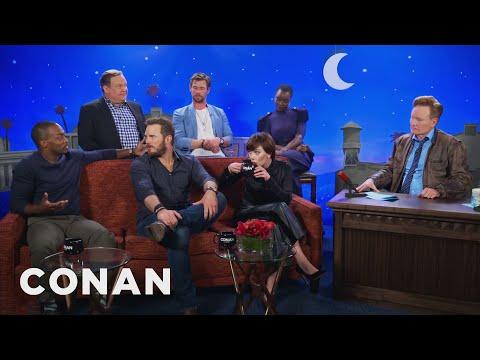 "The ""Avengers: Infinity War"" Cast On The Captain America Virgin Theory  - CONAN on TBS"