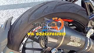 knalpot racing R9 H2 Black cbr150 cb150 R15 xabre vixion tiger megapro verza byson scorpio satria fu mx king supra gtr gsx150 nmax aerox dll