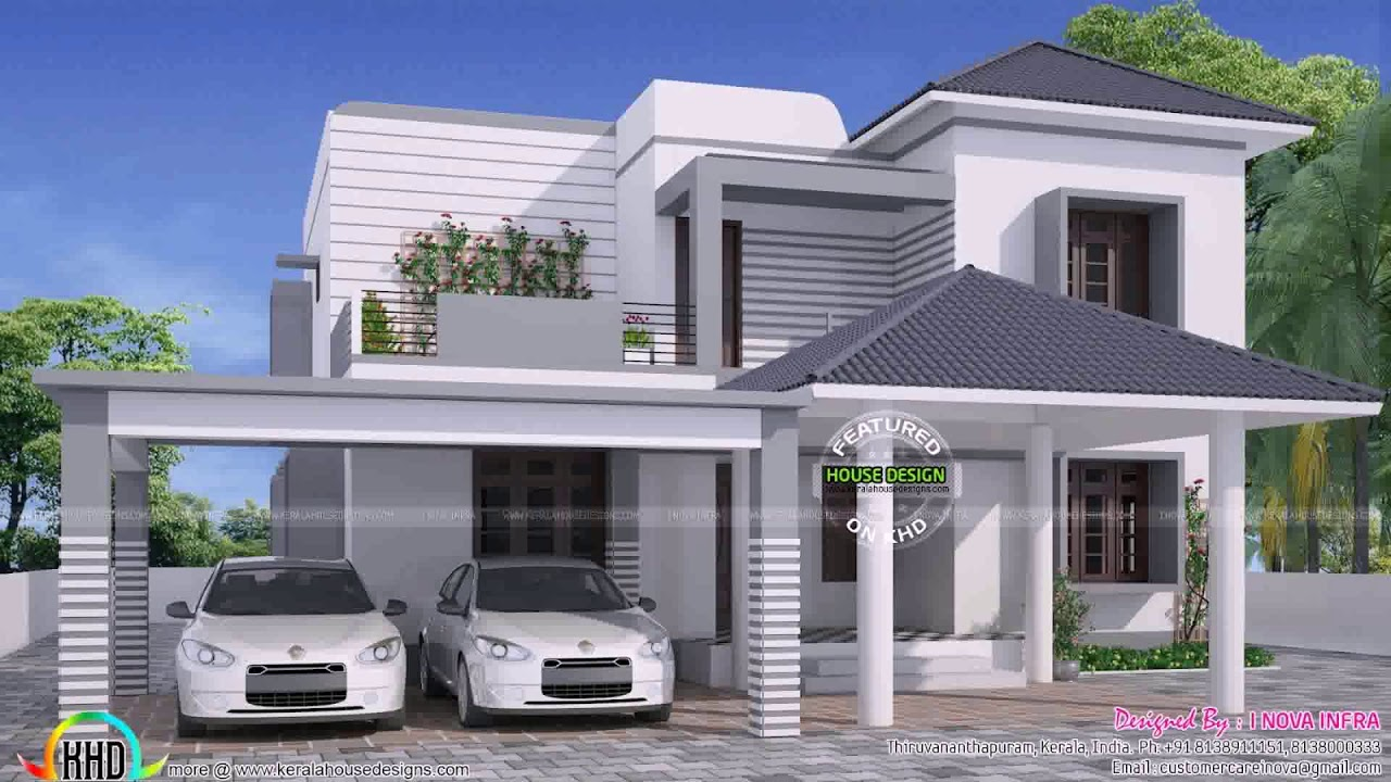 Modern House Plans With Balcony On Second Floor