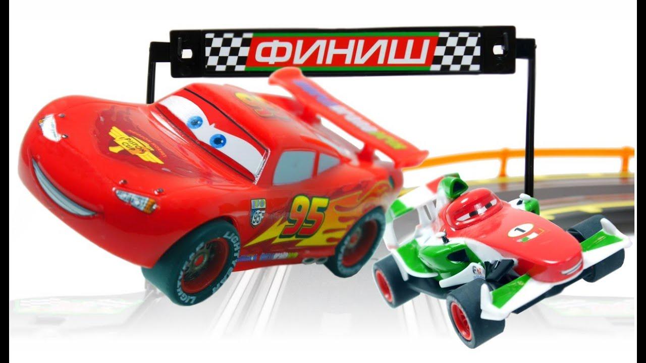 cars big race lightning mcqueen vs francesco bernoulli youtube