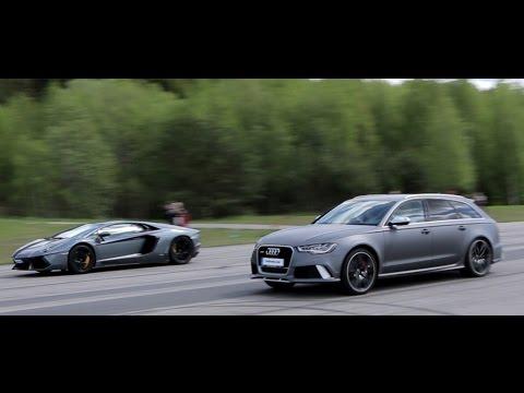 [50 p] Audi RS6 Avant C7 700 HP vs Lamborghini LP700-4 Aventador