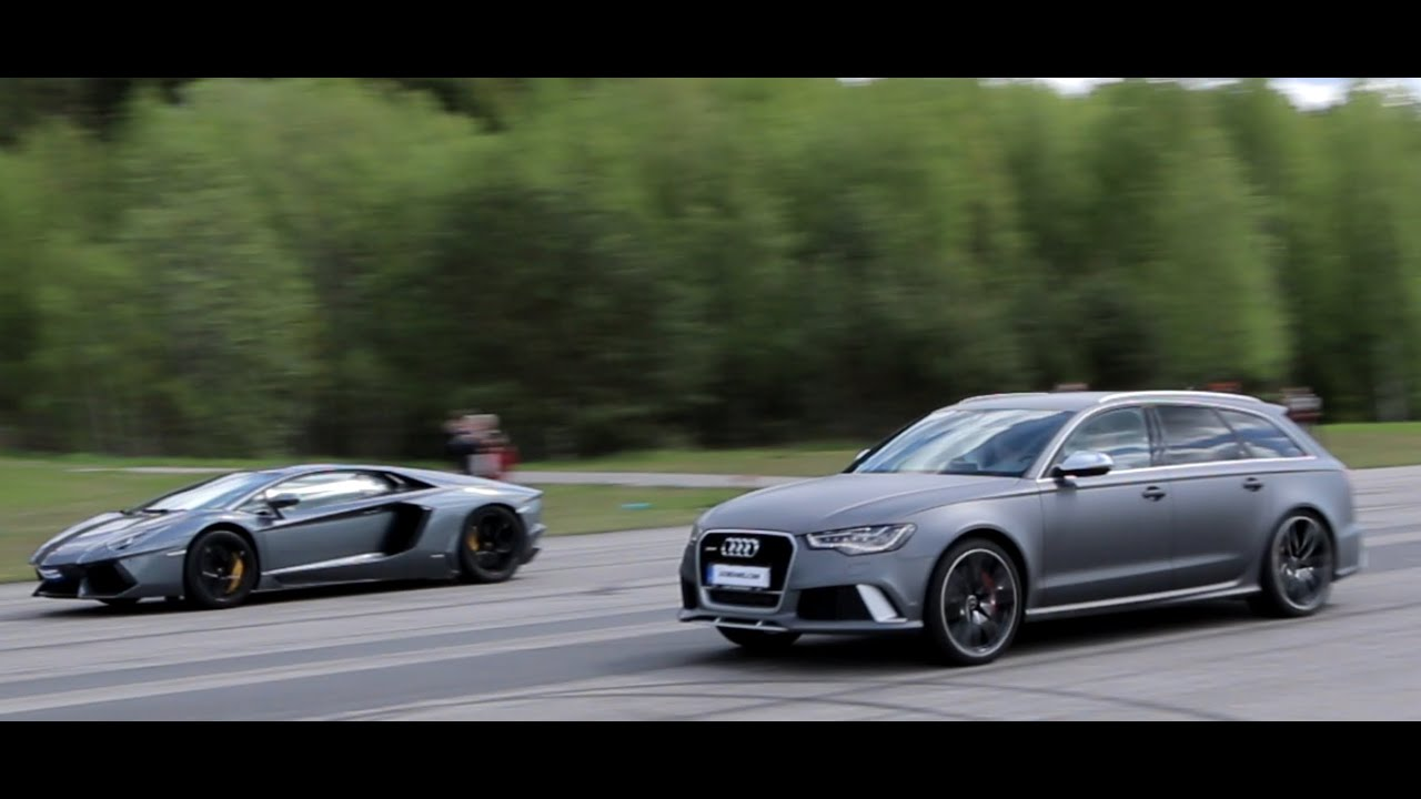 50 P Audi Rs6 Avant C7 700 Hp Vs Lamborghini Lp700 4