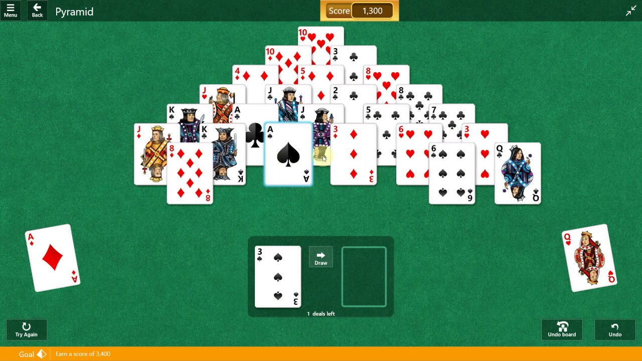 how to play microsoft pyramid solitaire