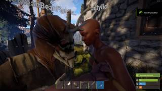 Young Ebony Teen Impaled By Long Black Rod [Rust]   Warden Gaming