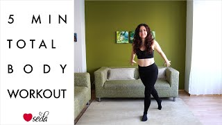 5 Min Warm-up Total Body Workout for Busy People || No equipment || Certified Instructor