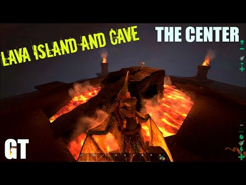Volcano Island and LAVA CAVE - The Center Map E2 - ARK: Survival Evolved