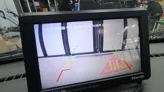 포터2 차량의 기존 네비게이션에 후방카메라를 연동하여 …