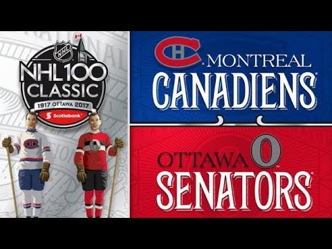 NHL 18 PS4. LA CLASSIQUE 100 DE LA LNH: CANADIENS MONTREAL VS SENATEURS OTTAWA. 12.16.2017. (CBC) !