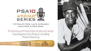 Collecting MLB Bats, from Babe Ruth to Derek Jeter, and How Experts Use Photos: PSA10 Webcast Series