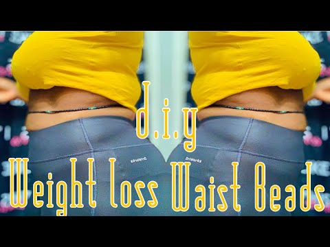 D.i.y African Waist Beads For Weight Loss?? | How To Tie Ur Waist Beads Tutorial!
