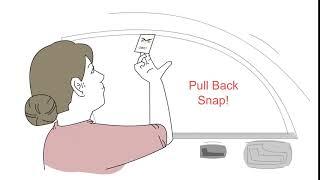 OWL® Open window for life car window breaker seat belt cutter GIF