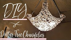 DIY Chandelier w/ mostly Dollar Tree items | Glam Decor | Light Fixture | Hanging Lamp | Room decor
